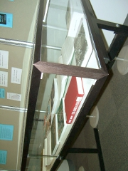 left side view of the display case