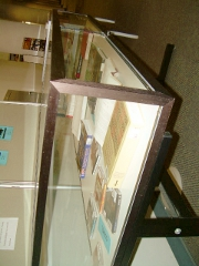 front view of the display case