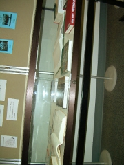 right side view of the display case