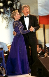 Bill and Hillary Clinton dancing together