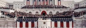 President George H. W. Bush being sworn in