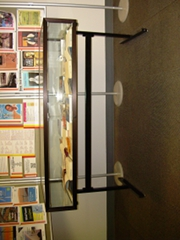 The display case from the front