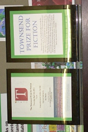 Sign for the Townsend Prize 2012 display
