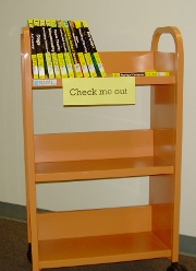 the orange display cart