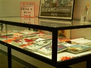 A long view of the display case