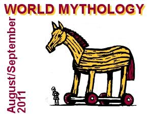 World Mythology with picture of Trojan Horse