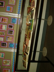 Wide view of the display case