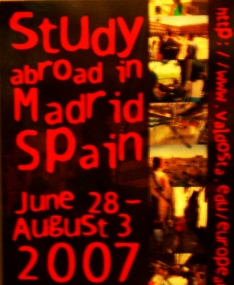 poster about Madrid