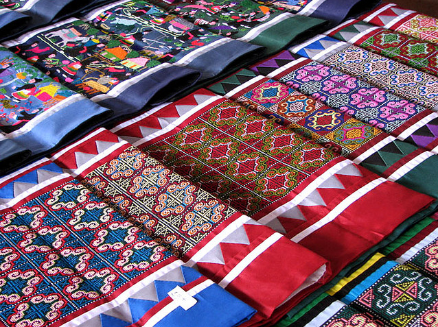 samples of Hmong embroidery