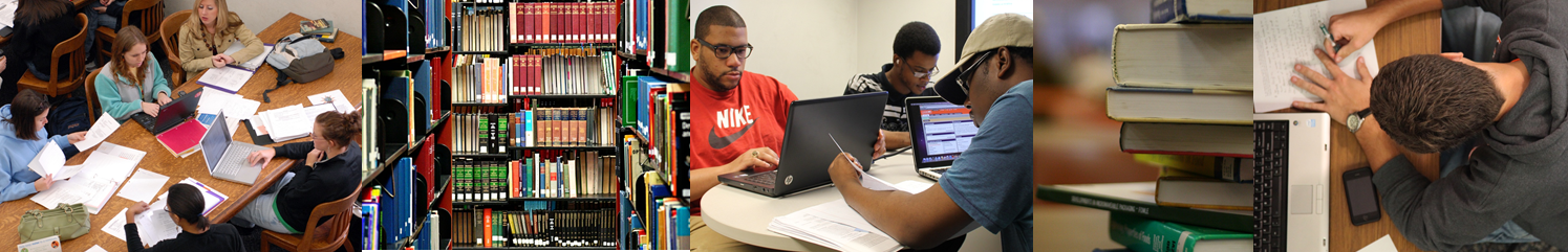 students studying in Cooper Library