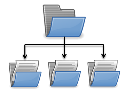 Image of a folder tree showing breakdown of documents into different sections