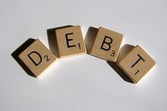 Debt Scrabble Tiles - permission from stockmonkeys.com