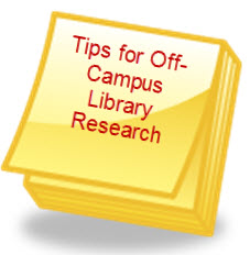 tips for offcampus library research