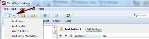 Mendeley PDF Upload