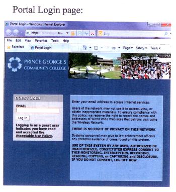Portal Login Page