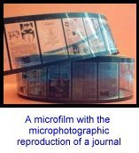 a microfilm with the microphotographic reproduction of a journal