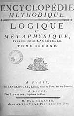 Page de titre d'un volume de l'Encyclopédie méthodique