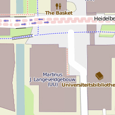 Utrecht in Open Street map