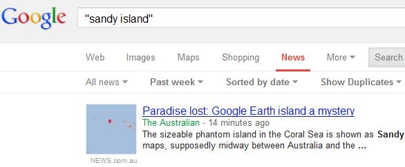 het menu voor nieuws in de reguliere Google zoekmachine