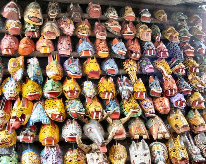 Photo of Guatemalan masks