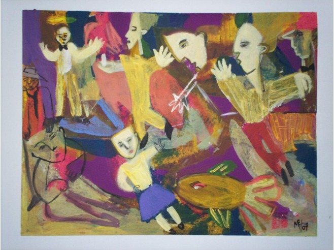 Photo of painting by Guatemalan artist Maria Eskenasy