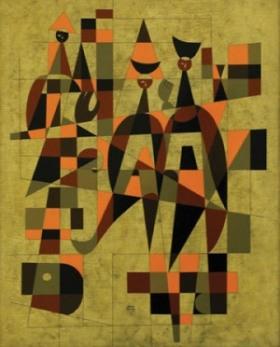 Photo of painting by Guatemalan artist Carls Merida