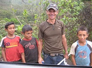 Photo of Marquette student with Guatemalan children
