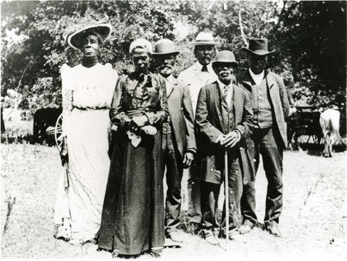 Photo of Emancipation Day in a Texas community ca. 1900