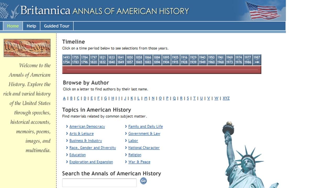 Britannica Annals of American History