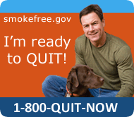 I'm ready to quit (smoking) call 1-80-QUIT-NOW