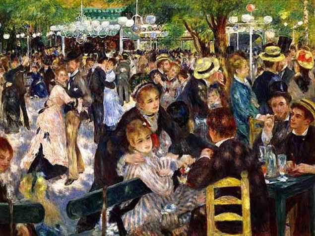 Painting: Bal du moulin de la Galette by Pierre-Auguste Renoir