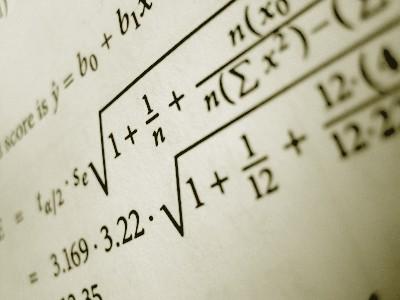 Mathematical formulas in book