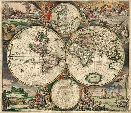Map of the World 1689