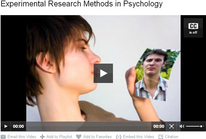 Experimental Research Methods in Psychology