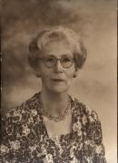 Negative of photograph of Lillian de Lissa; Image source: UniSA Library