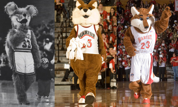 Photos of Marist Mascots through the years