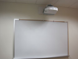 Projector and whiteboard