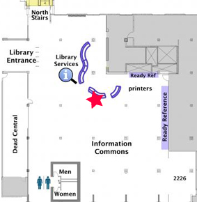 McHenry Library: Map of second floor