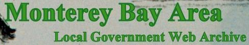 Monterey bay area local government web archive