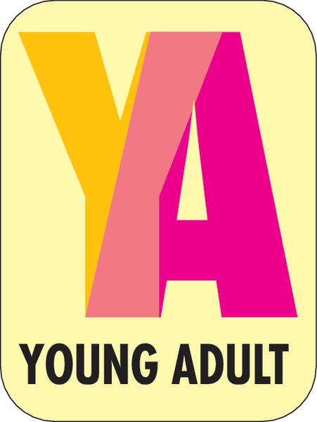 Young Adult sticker for book spines