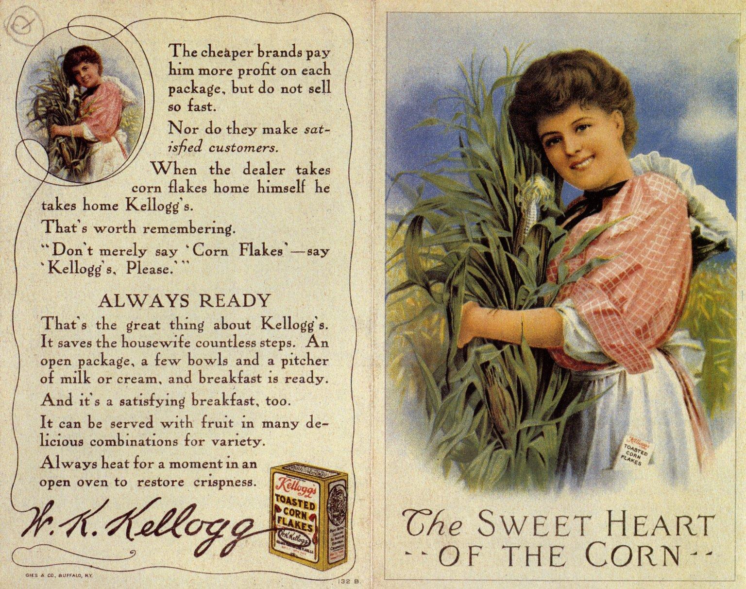 1907 Kelloggs Corn Flakes Ad