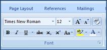 font settings in word