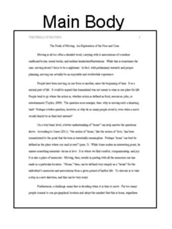 Main body of text example