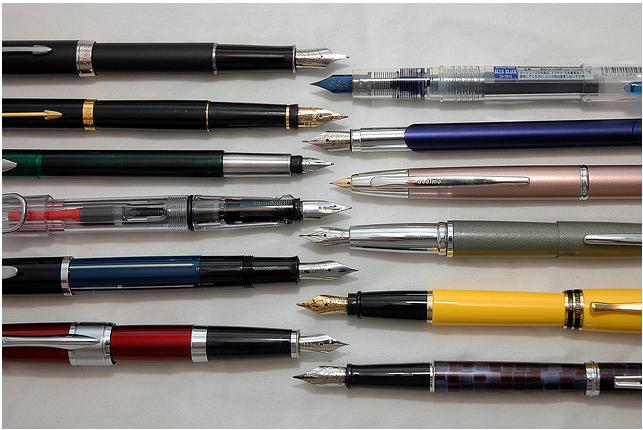 Twelve pens