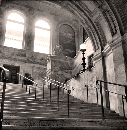Entrance to the Boston Public Library