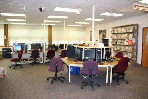 Open computers on first floor
