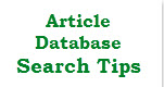 Article Database Search Tips