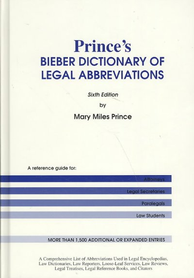 image of Prince's Bieber Dictionary cover