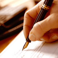image of hand writing