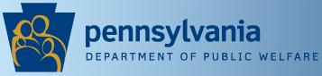 Logo for Pennsylvania Department of Public Welfare